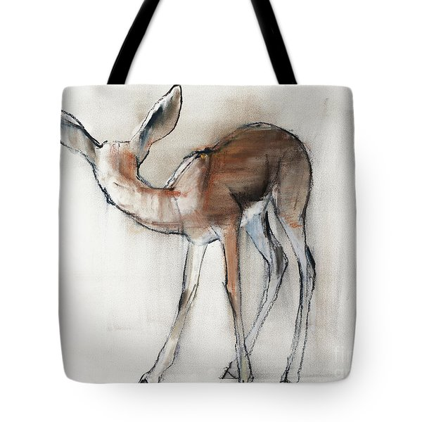 Gazelle Fawn  Arabian Gazelle Tote Bag by Mark Adlington