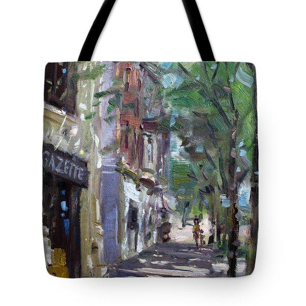 Gazette At 3d And Niagara Streets Tote Bag