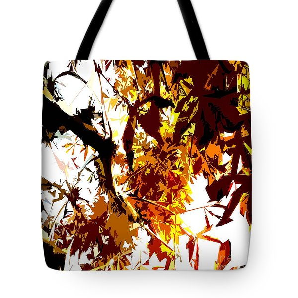 Gazing Into The Autumn Trees Tote Bag by Patrick J Murphy