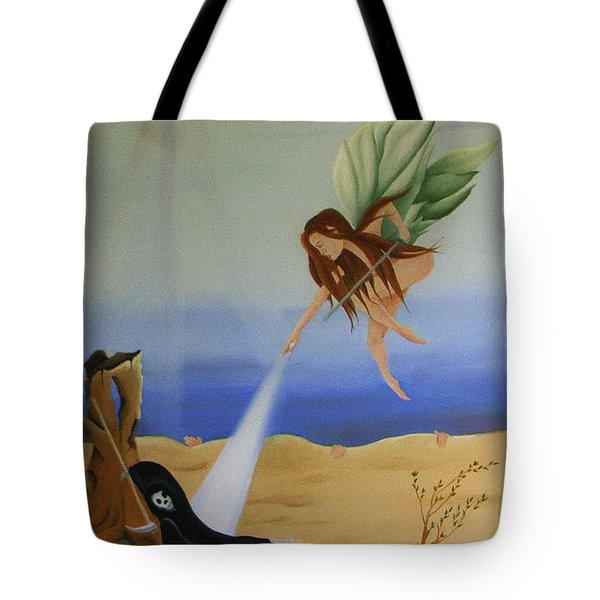 Gea. Life Breaks Through Tote Bag