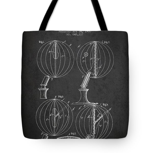 Geaographical Globe Patent From 1900 - Charcoal Tote Bag