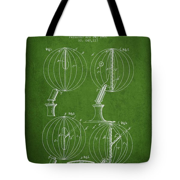 Geaographical Globe Patent From 1900 - Green Tote Bag