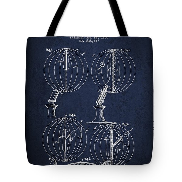Geaographical Globe Patent From 1900 - Navy Blue Tote Bag