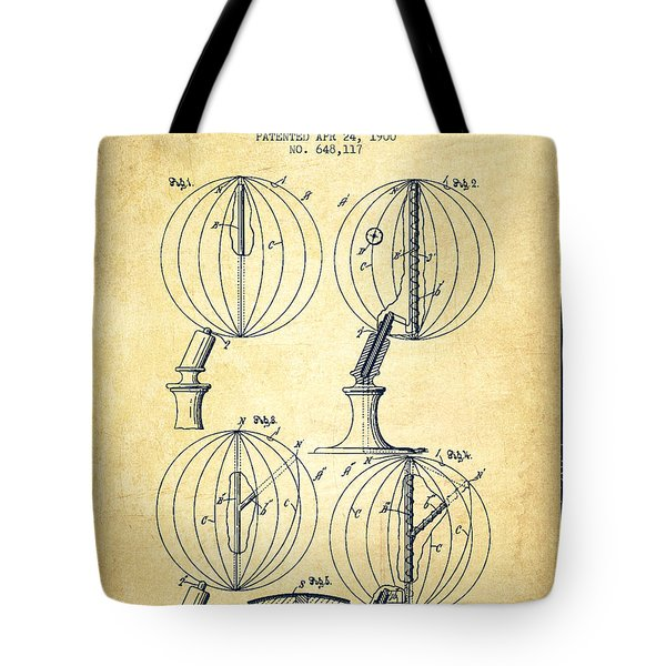 Geaographical Globe Patent From 1900 - Vintage Tote Bag