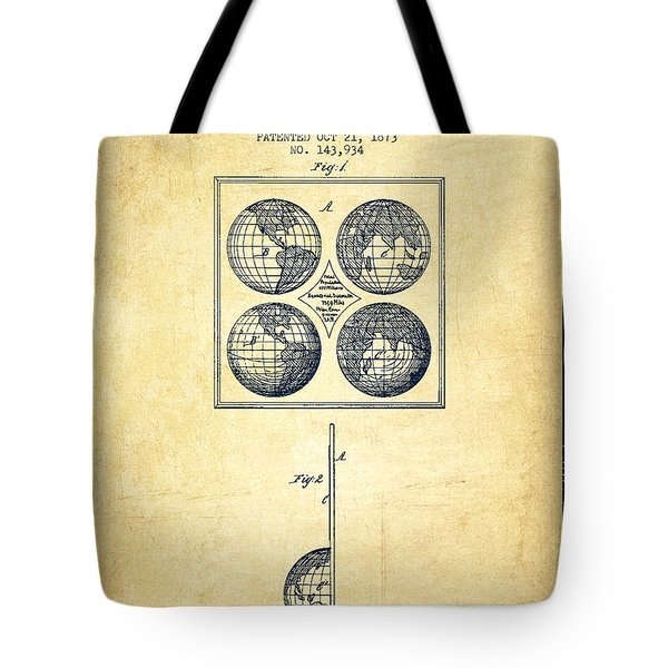 Geaography Apparatus Patent From 1873 - Vintage Tote Bag