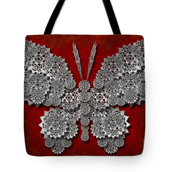 Gear Butterfly Tote Bag