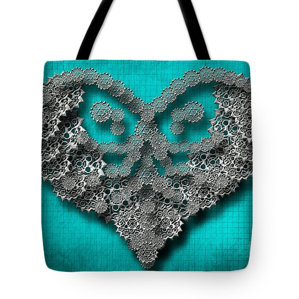 Gear Heart Tote Bag