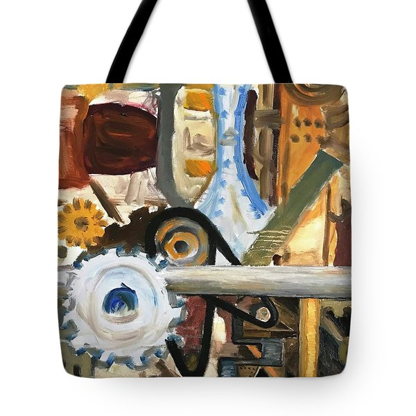 Gears In The Machine Tote Bag