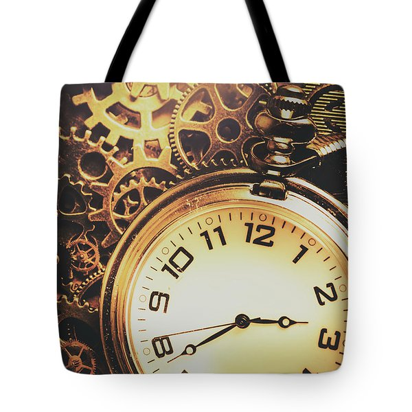 Gears Of Time Travel Tote Bag