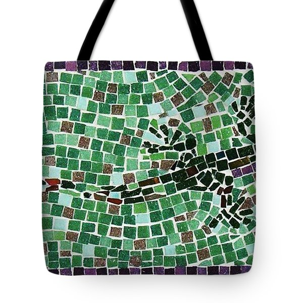 Tote Bag featuring the ceramic art Gecko by Jamie Frier