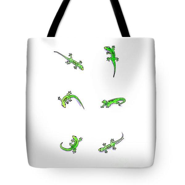 Gecko Play Tote Bag