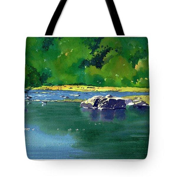 Geese On The Rappahannock Tote Bag