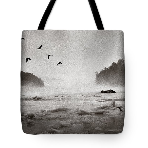 Geese Over Great Bay Tote Bag