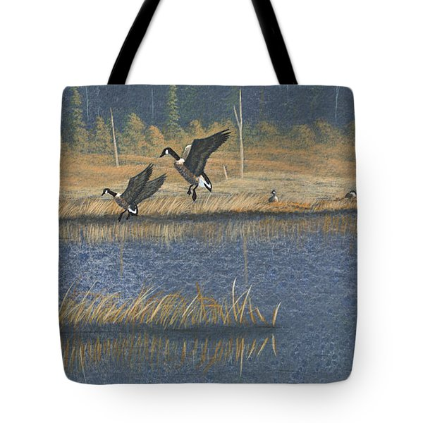 Geese Tote Bag by Richard Faulkner