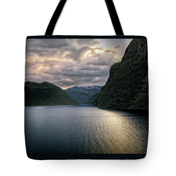 Tote Bag featuring the photograph Geiranger Fjord by Jim Hill