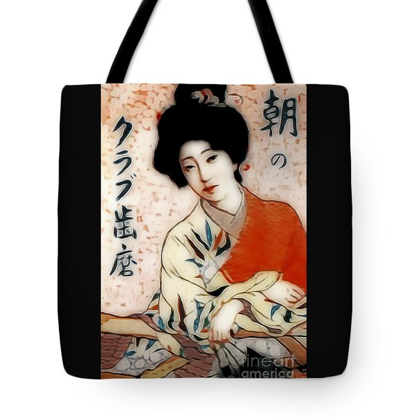 Geisha In Waiting  Tote Bag by Ian Gledhill