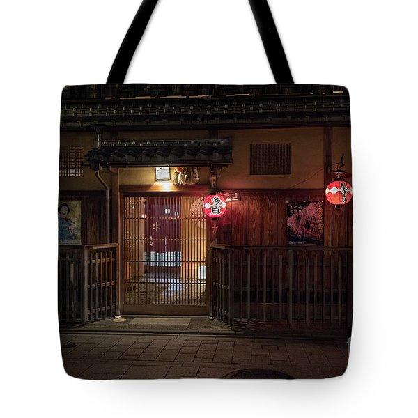 Geisha Tea House, Gion, Kyoto, Japan Tote Bag