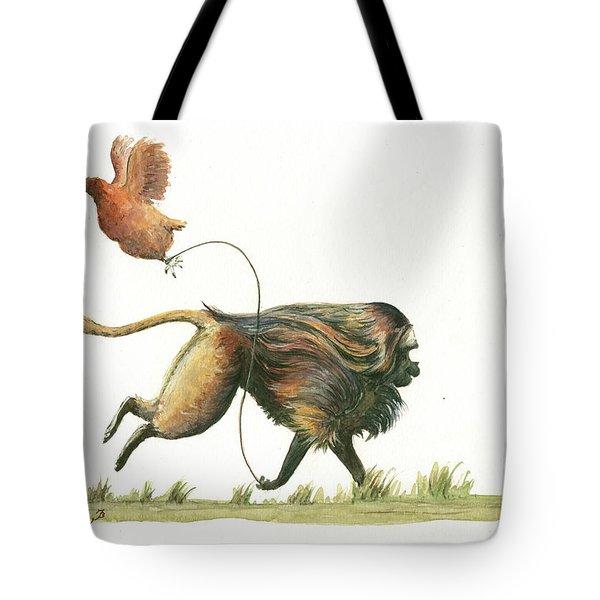 Gelada Monkey Tote Bag
