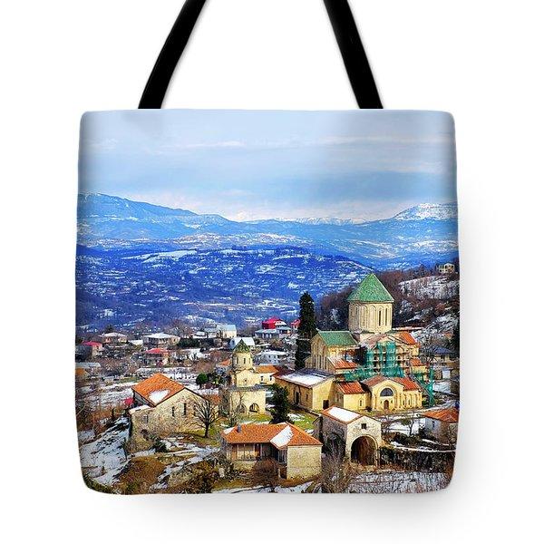 Tote Bag featuring the photograph Gelati Monastery by Fabrizio Troiani