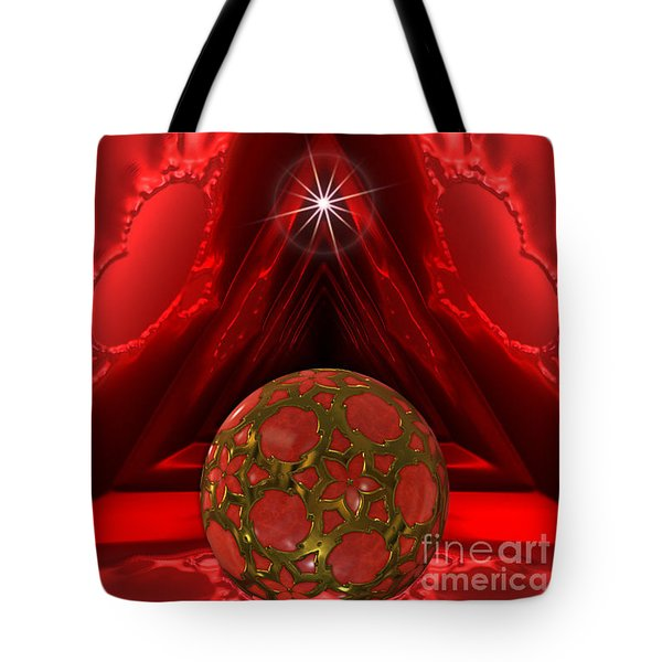 Tote Bag featuring the photograph Gem Ball In Satin Cave by Shirley Mangini