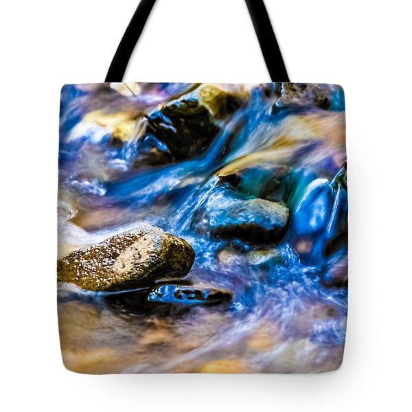 Gem Stream Splash Tote Bag by Wayne King