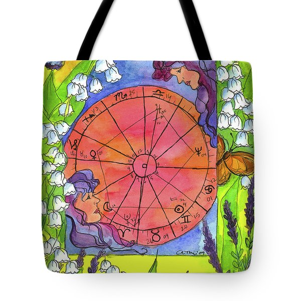 Tote Bag featuring the painting Gemini by Cathie Richardson