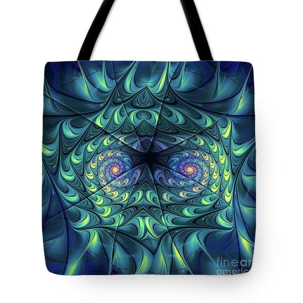 Tote Bag featuring the digital art Gemini by Jutta Maria Pusl