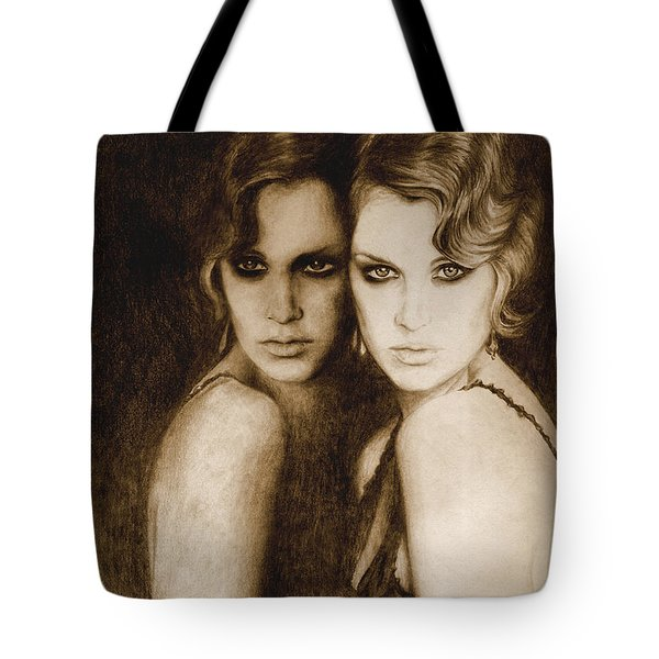 Tote Bag featuring the painting Gemini by Ragen Mendenhall