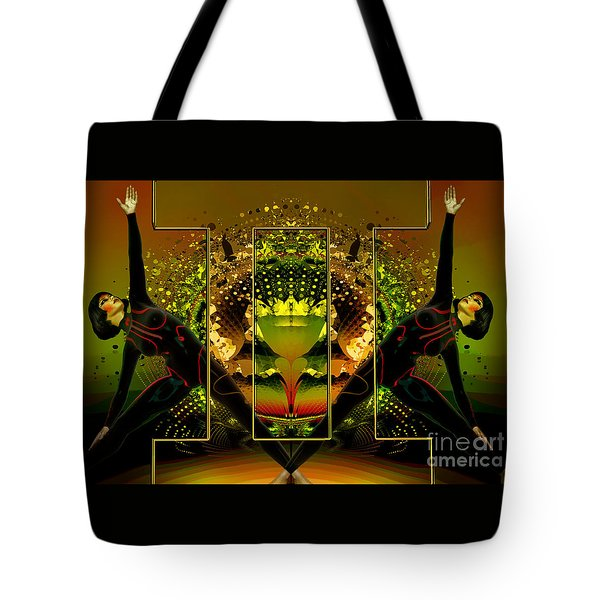 Tote Bag featuring the digital art Gemini by Shadowlea Is