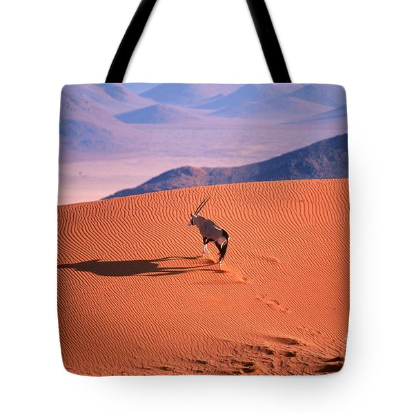 Gemsbok Tote Bag by Eric Hosking and Photo Researchers