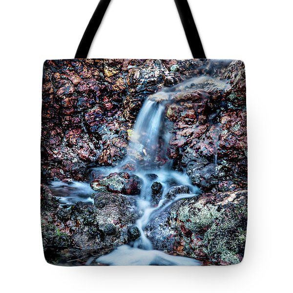 Tote Bag featuring the photograph Gemstone Falls by Az Jackson