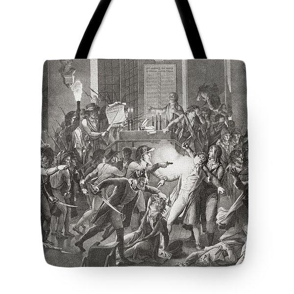 Gendarme Merda Shooting At Robespierre Tote Bag