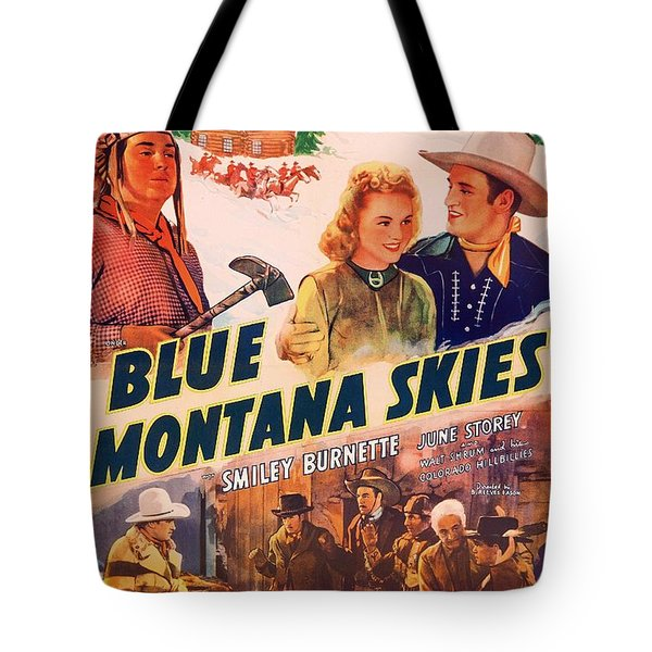 Gene Autry In Blue Montana Skies 1939 Tote Bag