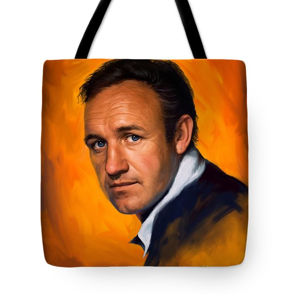 Tote Bag featuring the painting Gene Hackman by Sam Shacked