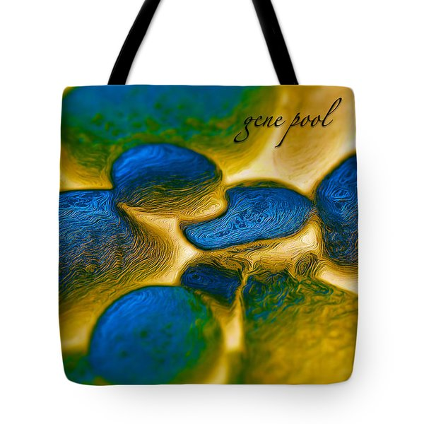 Tote Bag featuring the digital art Gene Pool Blue by ISAW Company
