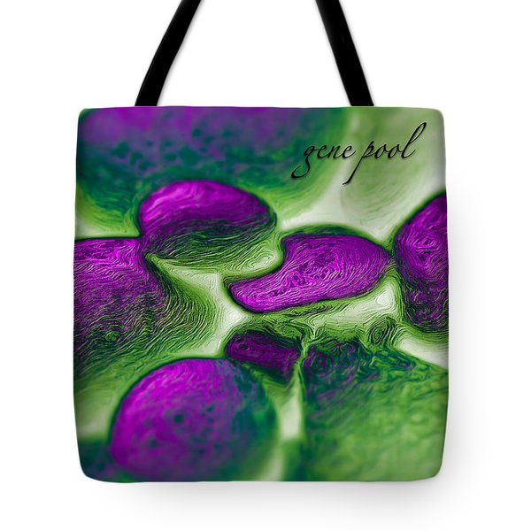 Tote Bag featuring the digital art Gene Pool Purple by ISAW Company