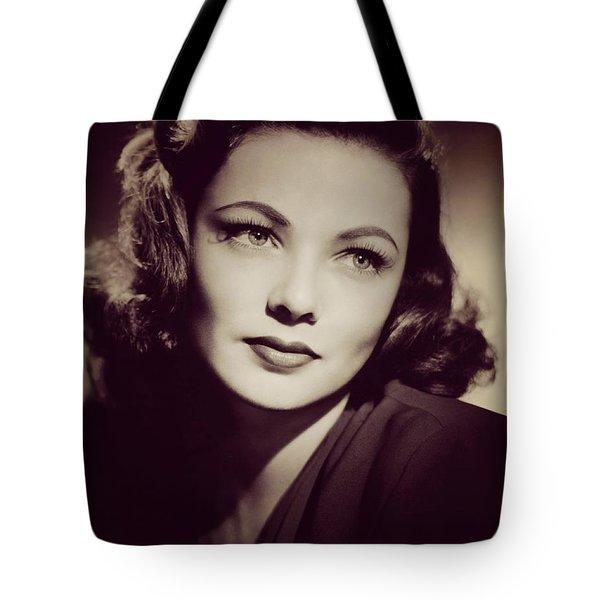 Gene Tierney, Vintage Movie Star Tote Bag