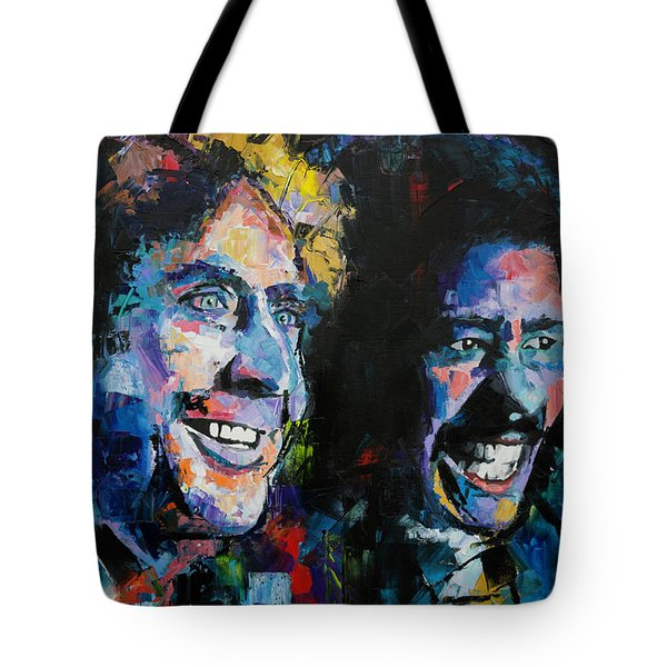 Tote Bag featuring the painting Gene Wilder And Richard Pryor by Richard Day