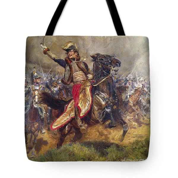 General Antoine-charles-louis Lasalle Tote Bag by Jean Baptiste Edouard Detaille