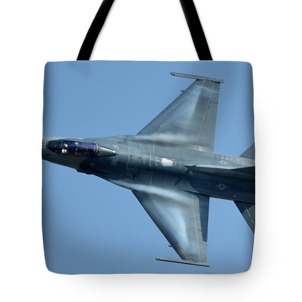 General Dynamics F-16c Block 50d Viper 91-0376 Chino California April 29 2016 Tote Bag by Brian Lockett
