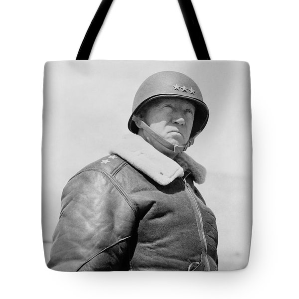 General George S. Patton Tote Bag by War Is Hell Store