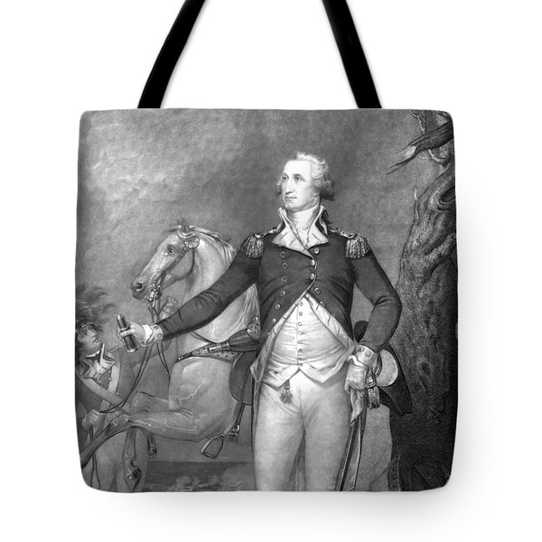 General George Washington At Trenton Tote Bag by War Is Hell Store