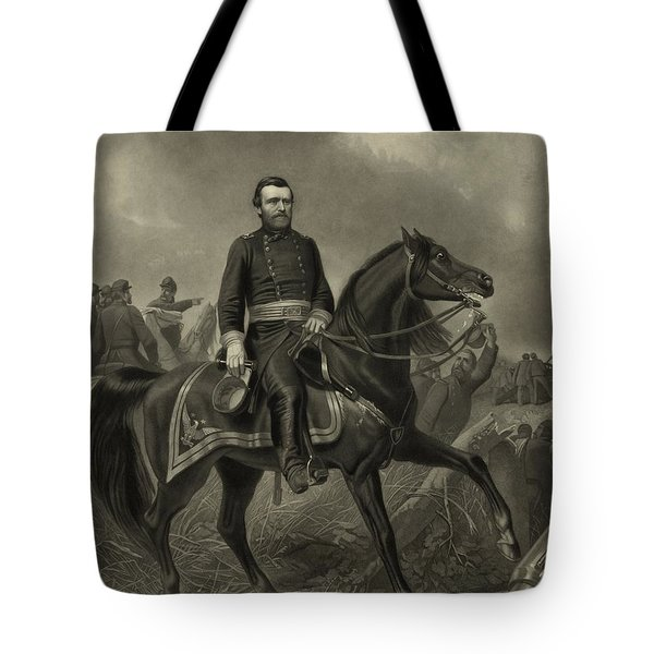 General Grant On Horseback  Tote Bag by War Is Hell Store