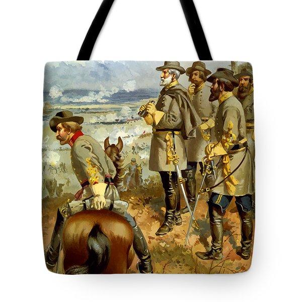 General Lee At The Battle Of Fredericksburg Tote Bag