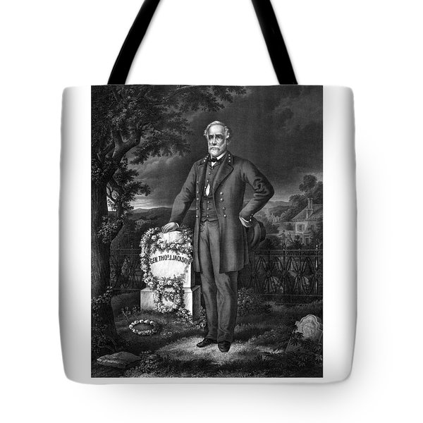 General Lee Visits The Grave Of Stonewall Jackson Tote Bag