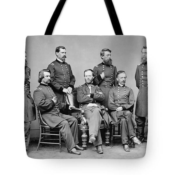 General Sherman And His Staff  Tote Bag by War Is Hell Store
