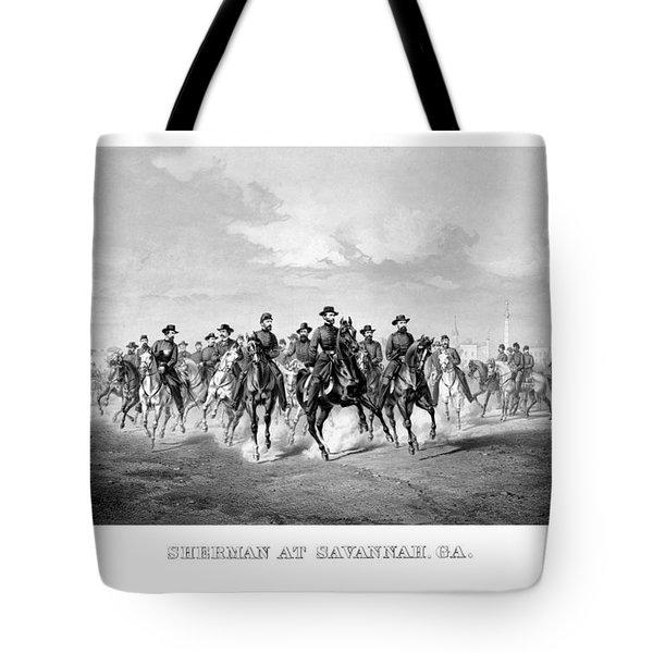 General Sherman At Savannah Tote Bag