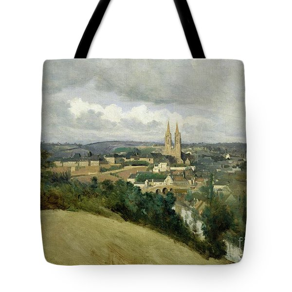 General View Of The Town Of Saint Lo Tote Bag by Jean Corot