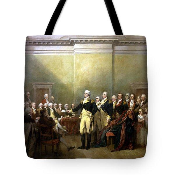 General Washington Resigning His Commission Tote Bag