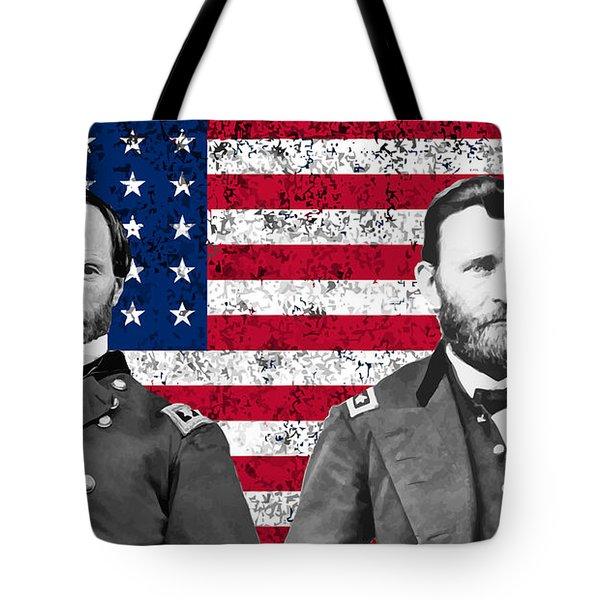 Generals Sherman And Grant  Tote Bag